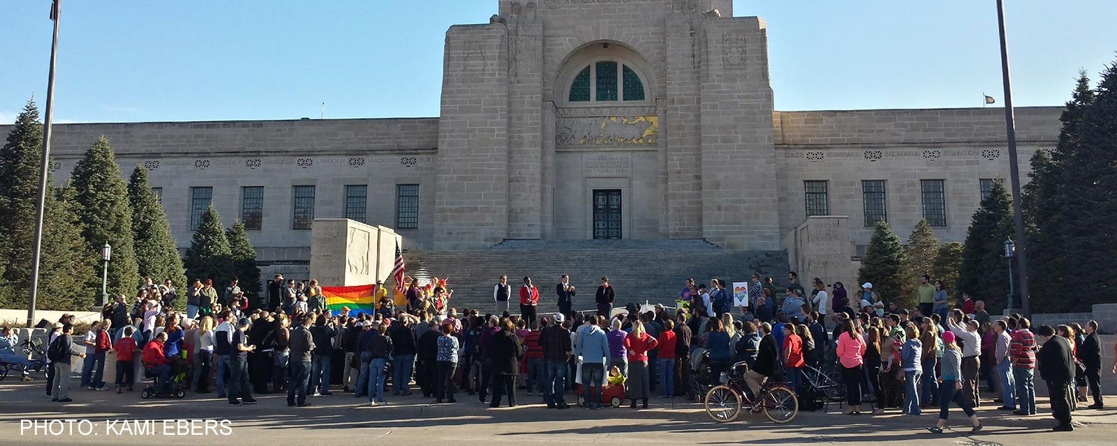 Transgender Rights Rally at Capitol Crowd
